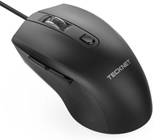 TeckNet 6-Button USB Wired Laser Mouse - Optical Computer Wired Mouse