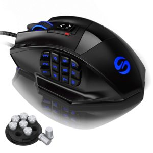 UtechSmart Venus Gaming Mouse - Laser Programmable MMO Gaming Mouse