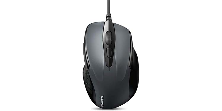 TeckNet BC74713 USB Wired Mouse with Side Buttons
